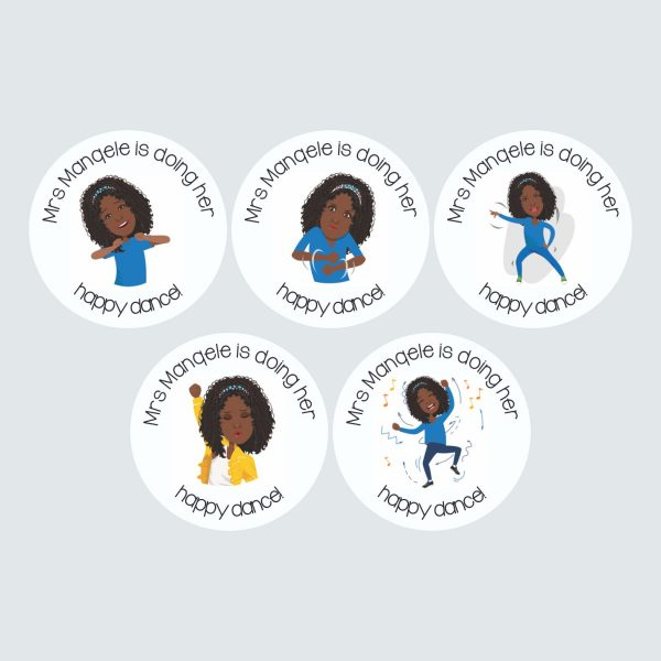 Personalised Avatar Stickers – Large