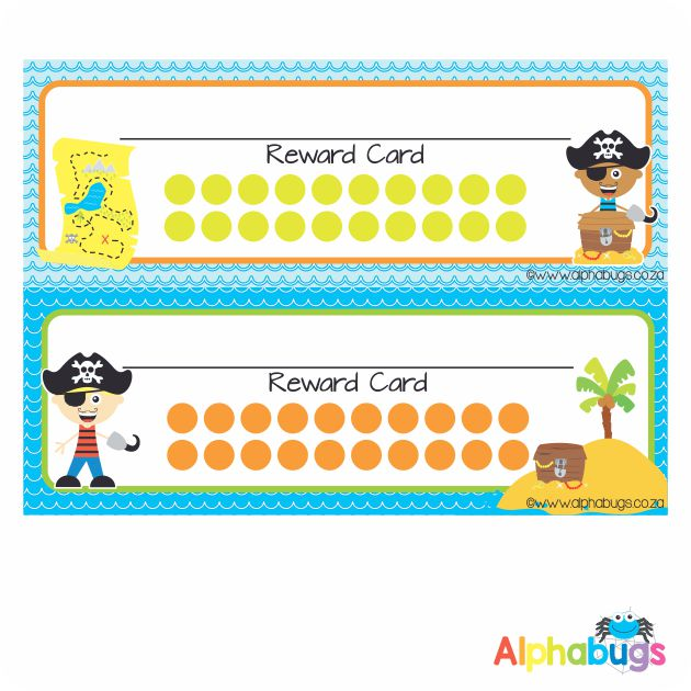 School Reward Cards – Ahoy There Matey Boys