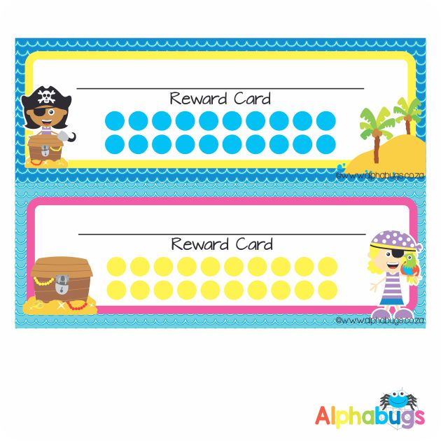 School Reward Cards – Ahoy There Matey Girls