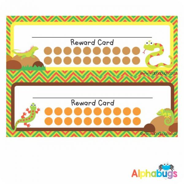 School Reward Cards – Creeping Critters