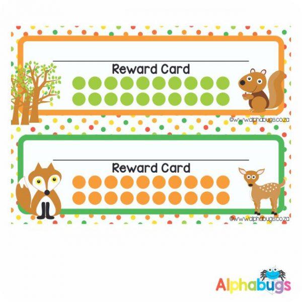 School Reward Cards – Forest Friends
