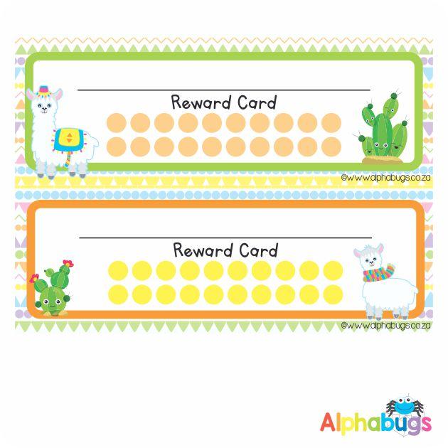 School Reward Cards – La La Llama