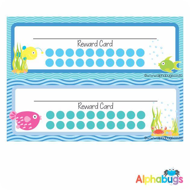 School Reward Cards – Under The Sea