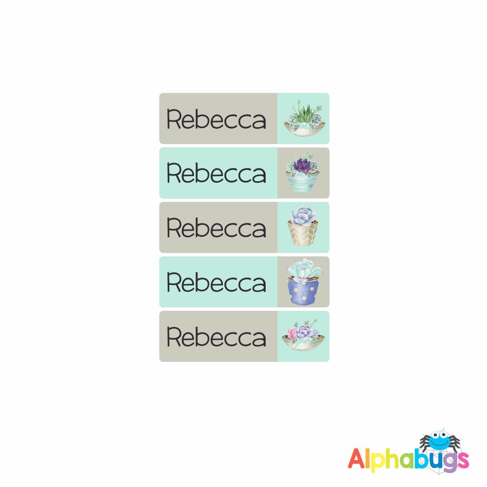 Small Name Labels – Rebecca