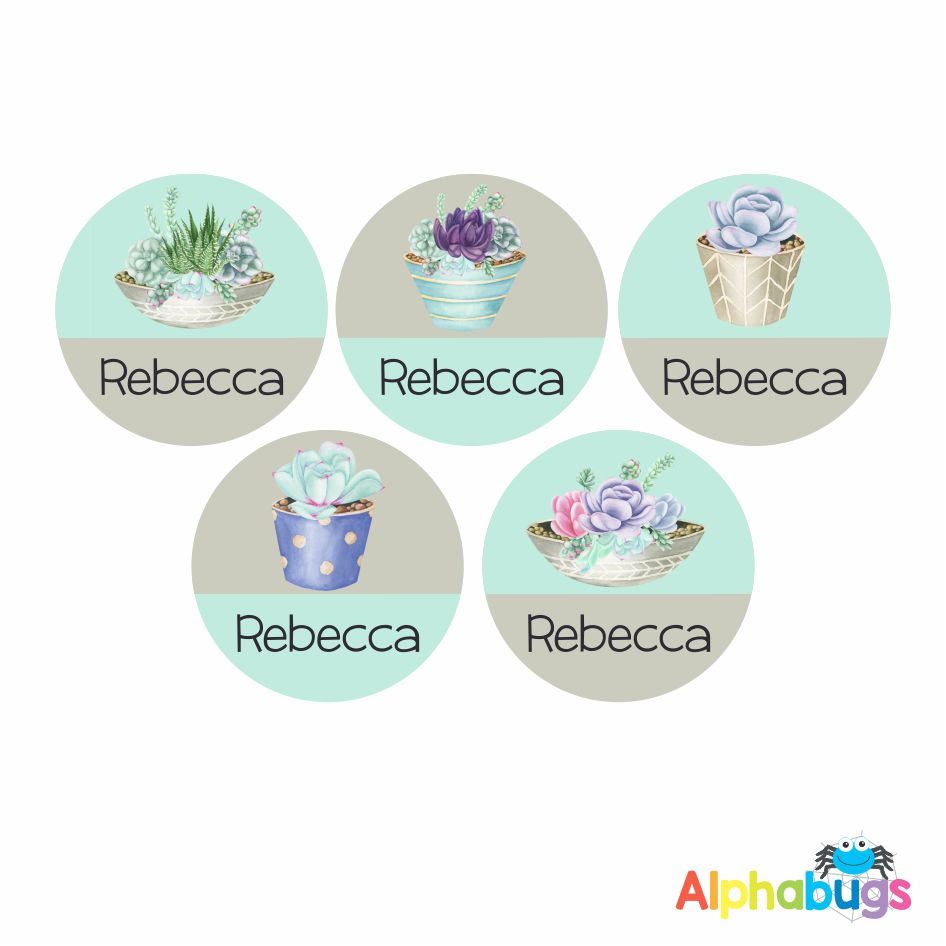 Large Round Labels – Rebecca