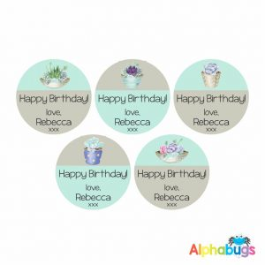 Gift Labels -Rebecca (Round)