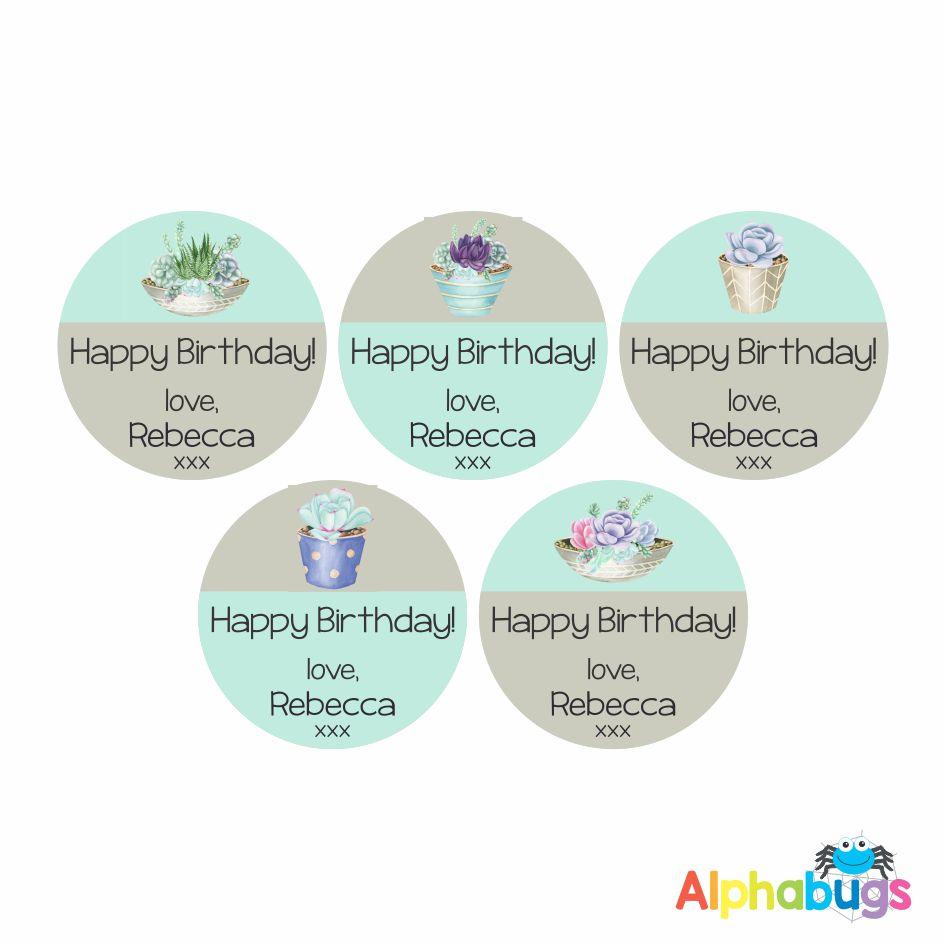 Gift Labels -Rebecca (Round)