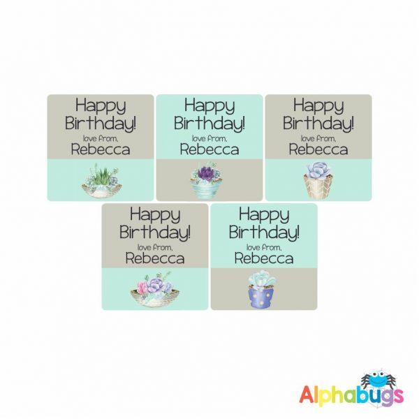 Gift Labels – Rebecca (Square)