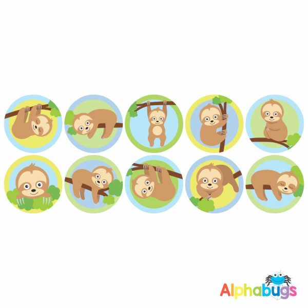 Themed Stickers – A Slumber of Sloths 1