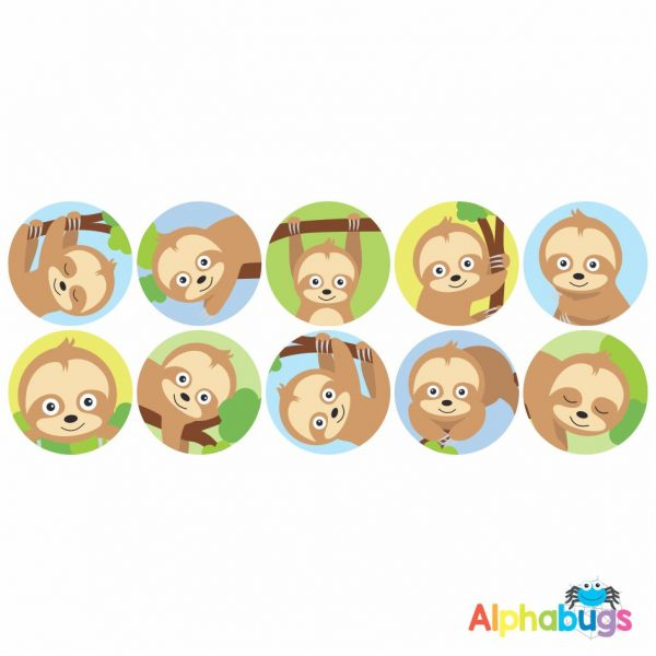 Themed Stickers – A Slumber of Sloths 2
