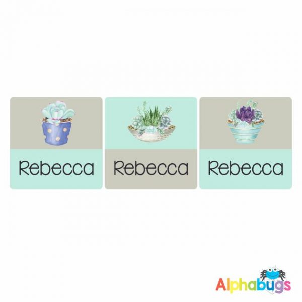 Square Labels – Rebecca