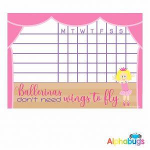 Write 'n' Wipe Chart – Beautiful Ballerinas Blonde