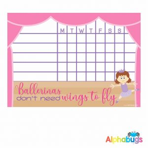 Write 'n' Wipe Chart – Beautiful Ballerinas Brunette