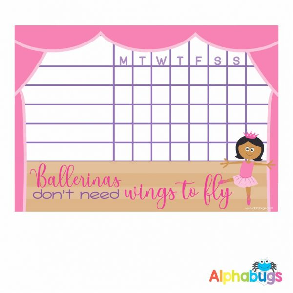 Write 'n' Wipe Chart – Beautiful Ballerinas Indian