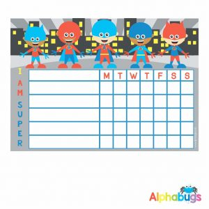 Write 'n' Wipe Chart – Superboys