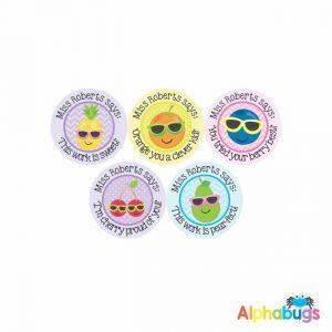 Pre-Designed Personalised Stickers – Cutie Fruity 2