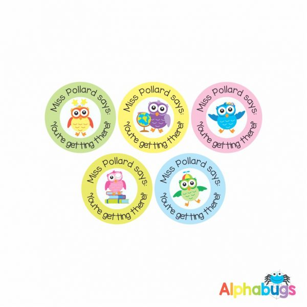 Pre-Designed Personalised Stickers – Wise Owls