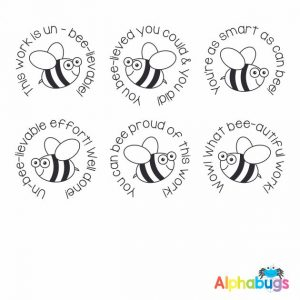 Stamp Set – Busy Bees 3cm