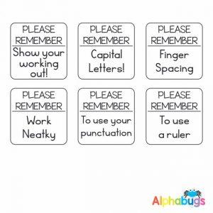 Stamp Set – Please Remember 3cm