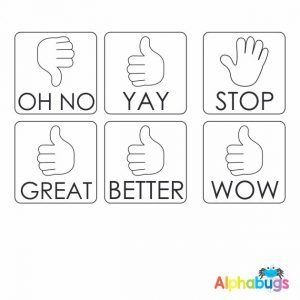 Stamp Set – Thumbs Up 3cm