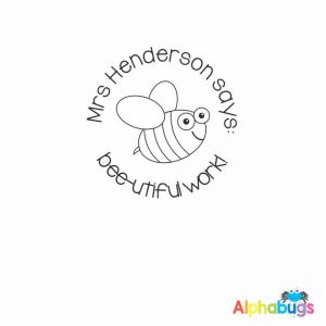 Personalised Stamp – Busy Bees