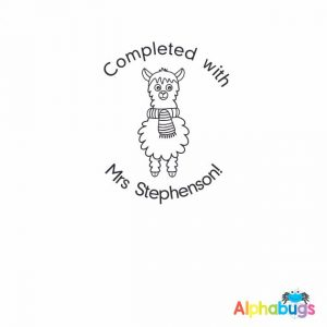 Personalised Stamp – Llamas