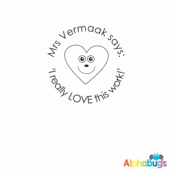 Personalised Stamp – Love Hearts