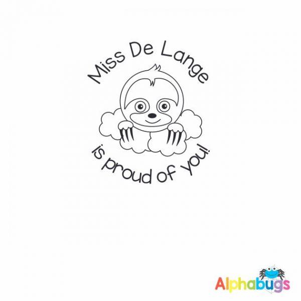 Personalised Stamp – A Slumber of Sloths
