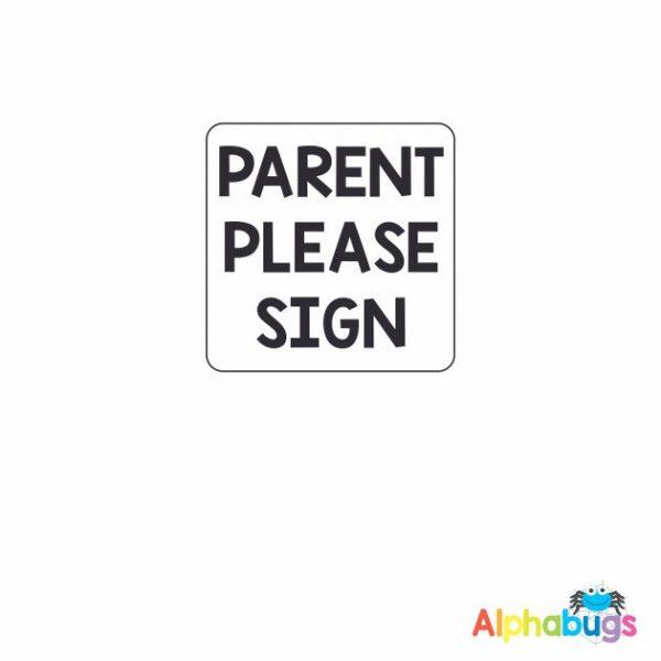 Parents Sign 3cm Wood Stamp
