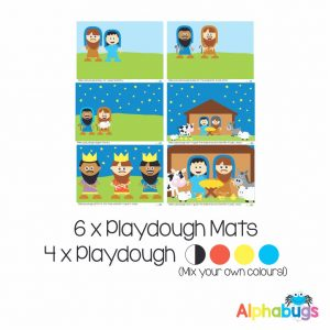 .Playdough Play Set – A Saviour is Born (6M+4D)