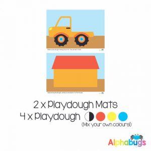 .Playdough Play Set – Boys at Work (2M+4D)