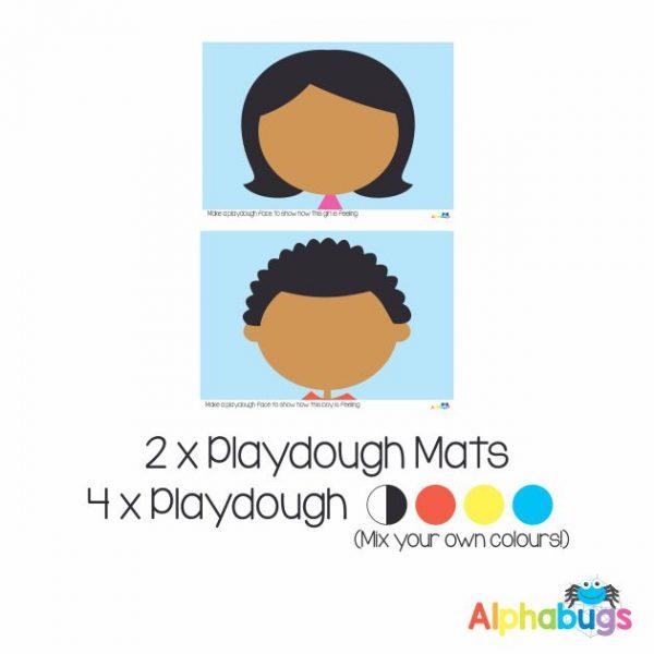 .Playdough Play Set – Emotions 2 (2M+4D)
