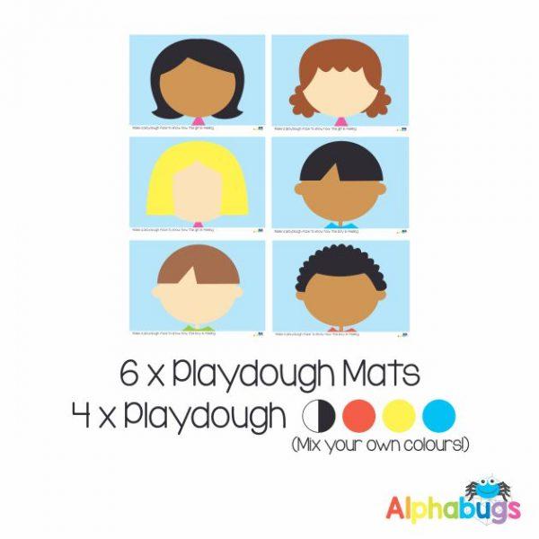 .Playdough Play Set – EMOTIONS 6 (6M+4D)