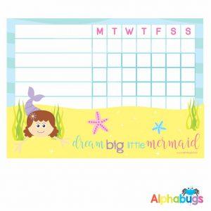 Write 'n' Wipe Chart – Mermaid 1