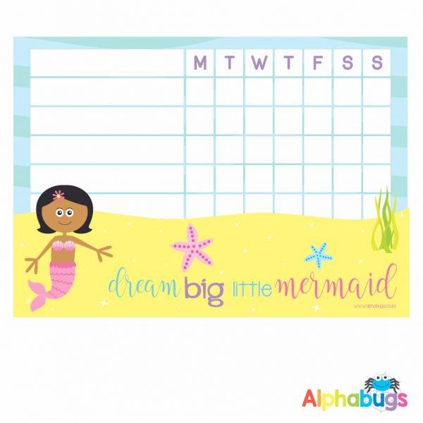 Write 'n' Wipe Chart – Mermaid 2