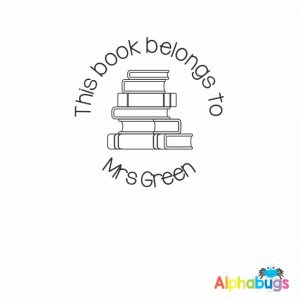 Personalised Stamp – Book Worm