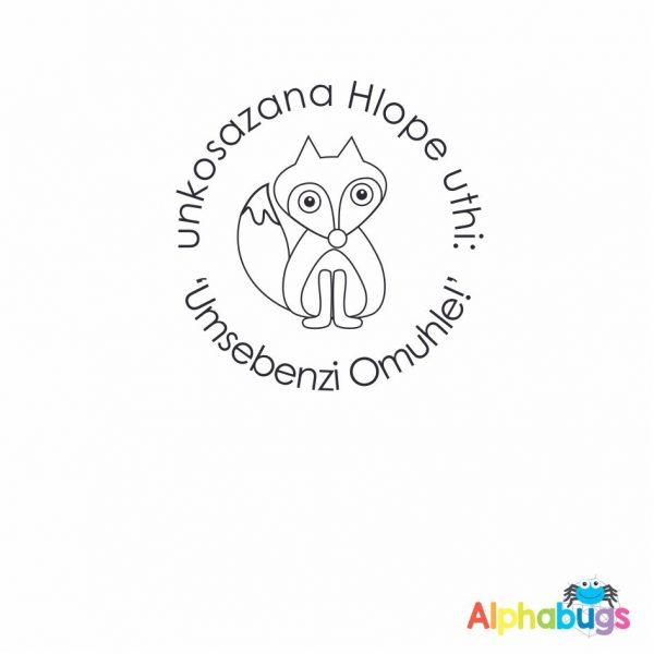 Personalised Stamp – Friendly Fox
