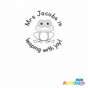 Personalised Stamp – Froggy