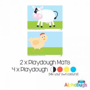 .Playdough Play Set – At the Farm (2M+4D)