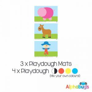 .Playdough Play Set – At the Farm (3M+4D)