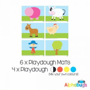 .Playdough Play Set – At the Farm (6M+4D)