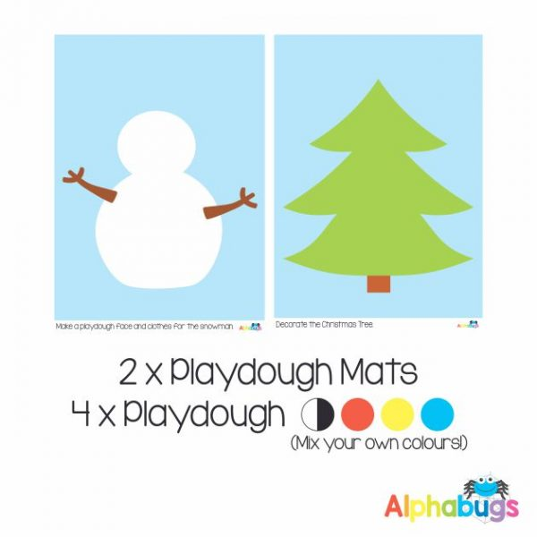 .Playdough Play Set – Christmas Characters (2M+4D)