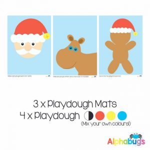 .Playdough Play Set – Christmas Characters (3M+4D)
