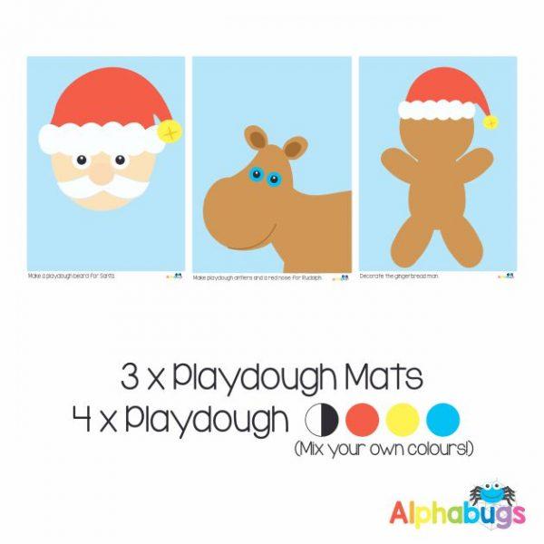 .Playdough Play Set – Christmas Characters (3M+4D)