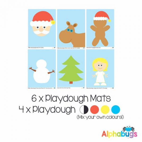 .Playdough Play Set – Christmas Characters (6M+4D)