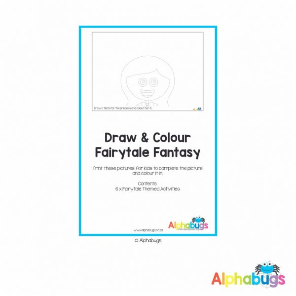 Home Printable – Colour n Draw Fairytale Fantasy