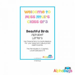 Classroom Decor – Beautiful Birds Alphabet Decor