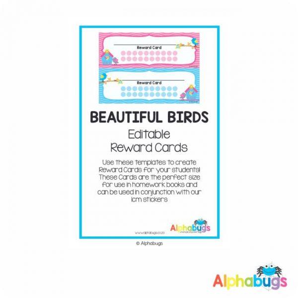 Classroom Decor – Beautiful Birds Reward Cards