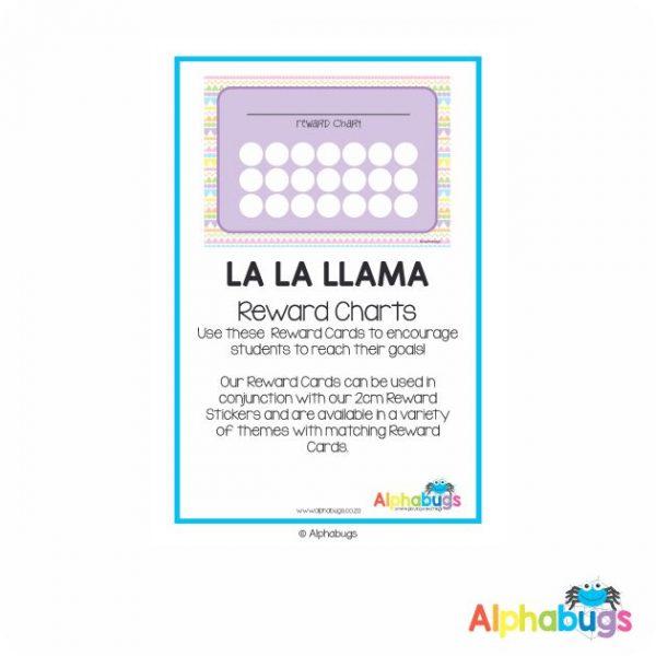 Classroom Decor -La La Llama Reward Charts