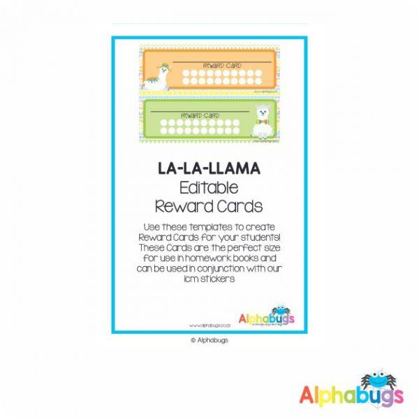 Classroom Decor – La La Llama Reward Cards